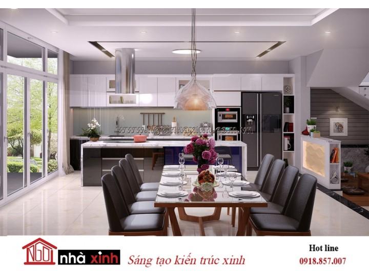 Mẫu Nhà Đẹp | Nội Thất Bếp Đẹp | Phong Cách Hiện Đại | Nhà Anh Lâm - Nghệ An