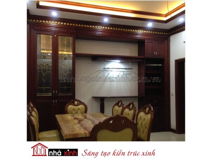 Mẫu nội thất  cao cấp phòng bếp cổ điển đẹp NNX-BCĐ09