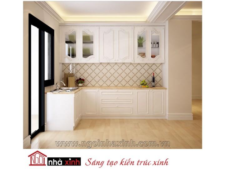 Mẫu nội thất  cao cấp phòng bếp cổ điển đẹp NNX-BCĐ14