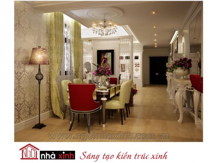 Mẫu nội thất  cao cấp phòng bếp cổ điển đẹp NNX-BCĐ15