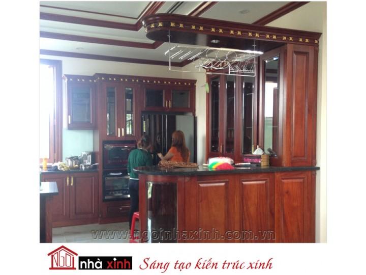 Mẫu nội thất  cao cấp phòng bếp cổ điển đẹp NNX-BCĐ16