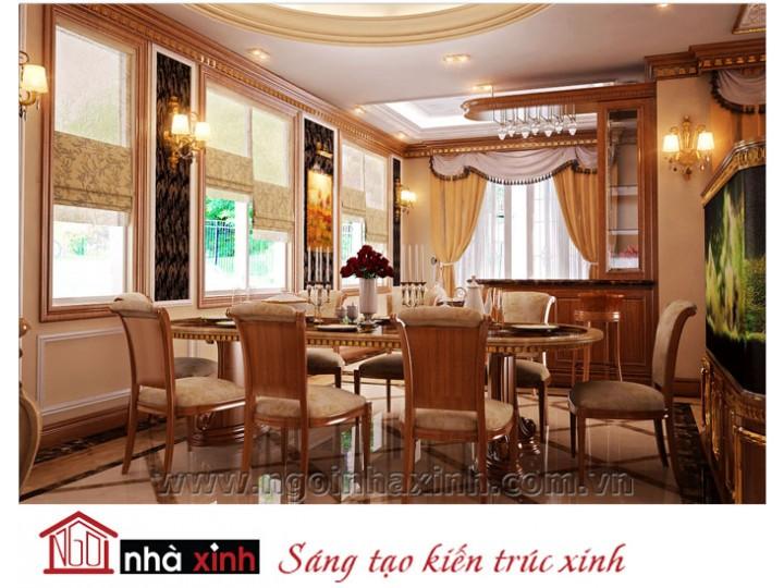 Mẫu nội thất  cao cấp phòng bếp cổ điển đẹp NNX-BCĐ17