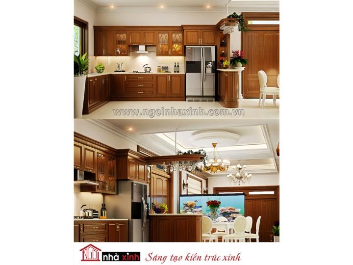Mẫu nội thất  cao cấp phòng bếp cổ điển đẹp NNX-BCĐ01
