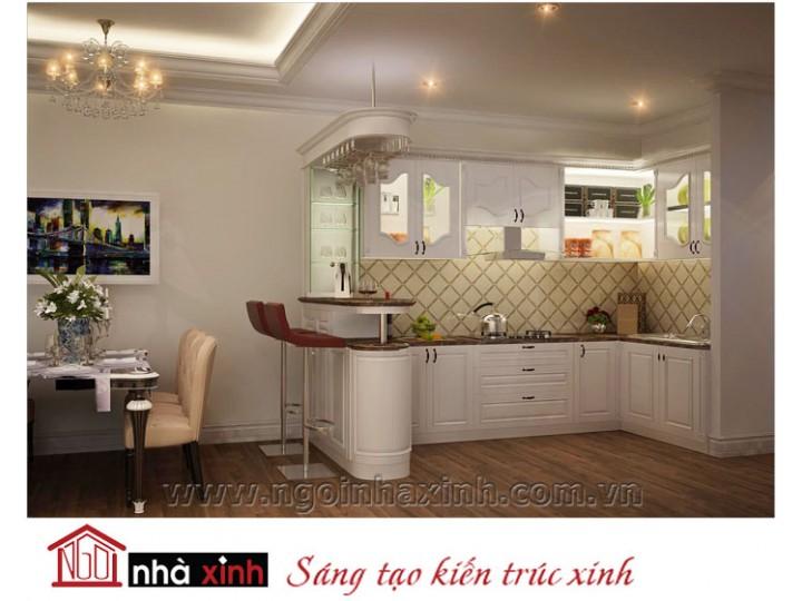 Mẫu nội thất  cao cấp phòng bếp cổ điển đẹp NNX-BCĐ02