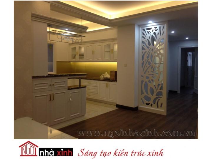Mẫu nội thất  cao cấp phòng bếp cổ điển đẹp NNX-BCĐ03