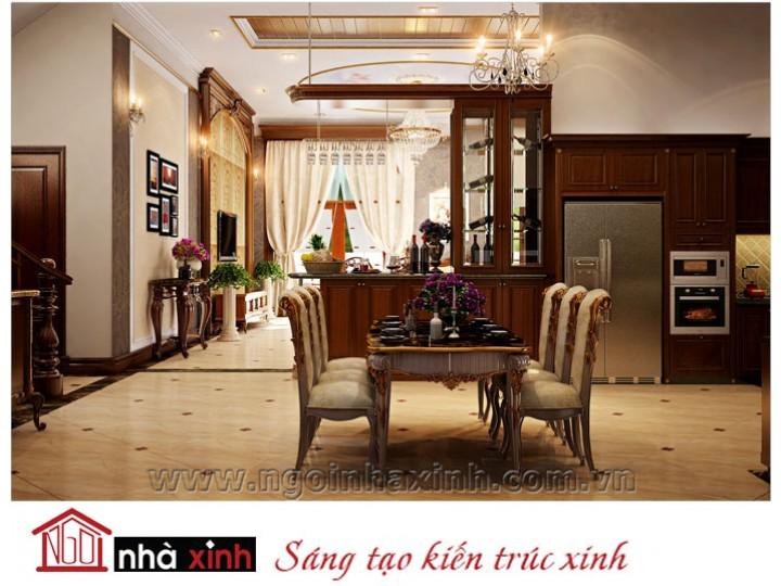 Mẫu nội thất  cao cấp phòng bếp cổ điển đẹp NNX-BCĐ05