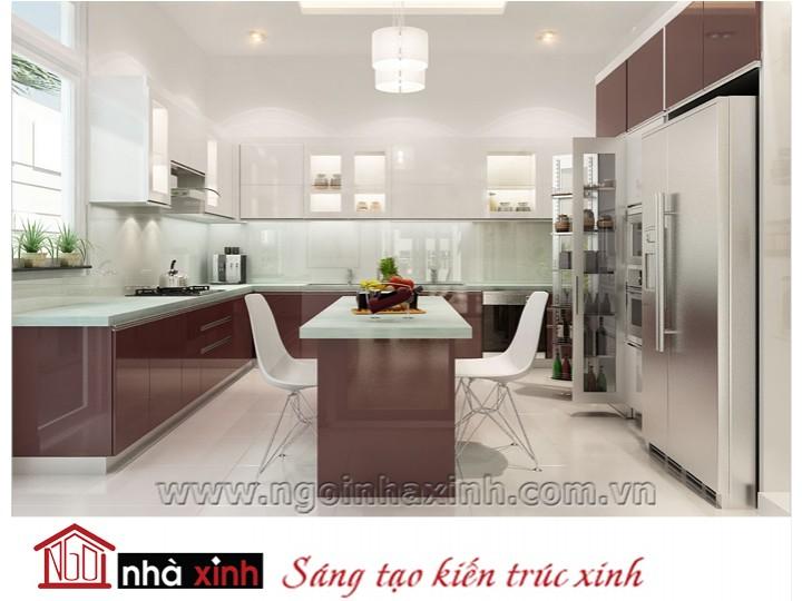 Mẫu nội thất  cao cấp phòng bếp hiện đại đẹp NNX-BHĐ01
