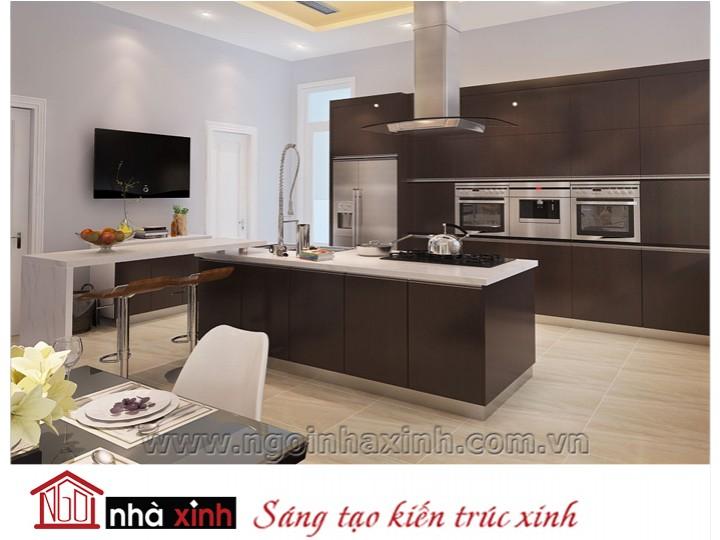 Mẫu nội thất  cao cấp phòng bếp hiện đại đẹp NNX-BHĐ03