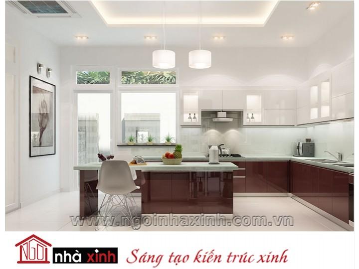 Mẫu nội thất  cao cấp phòng bếp hiện đại đẹp NNX-BHĐ05