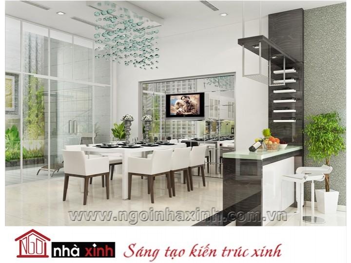 Mẫu nội thất  cao cấp phòng bếp hiện đại đẹp NNX-BHĐ07
