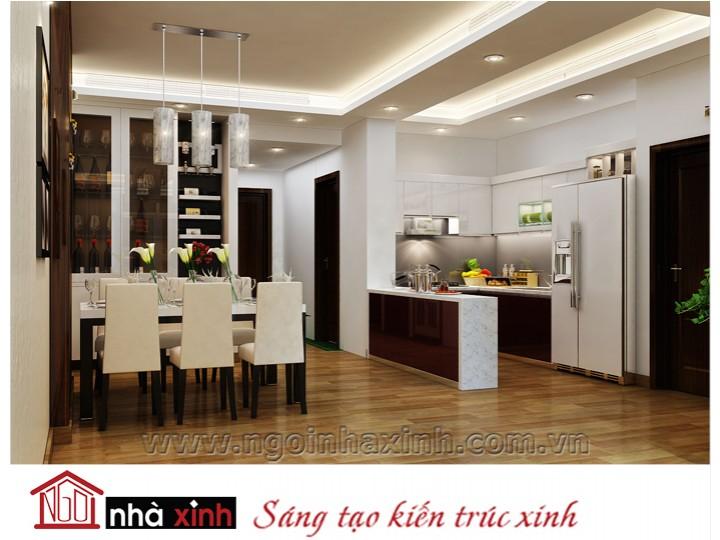 Mẫu nội thất  cao cấp phòng bếp hiện đại đẹp NNX-BHĐ08