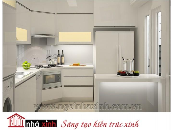 Mẫu nội thất  cao cấp phòng bếp hiện đại đẹp NNX-BHĐ09