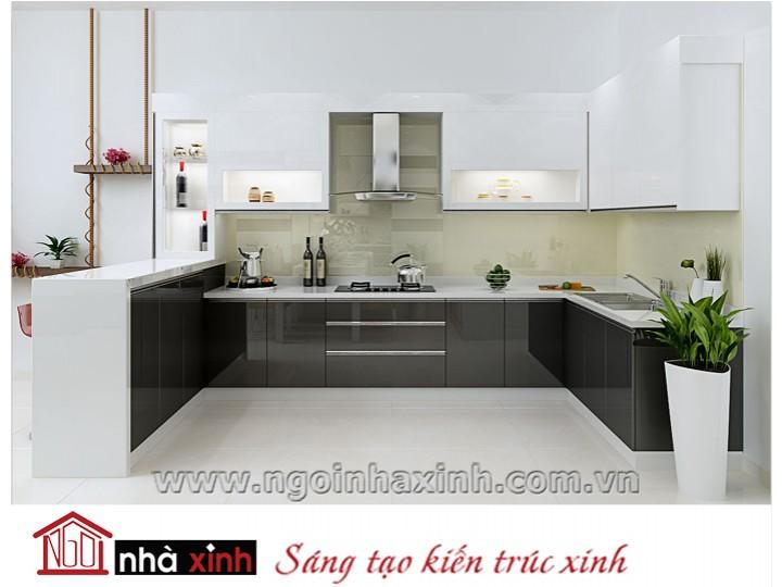 Mẫu nội thất  cao cấp phòng bếp hiện đại đẹp NNX-BHĐ10