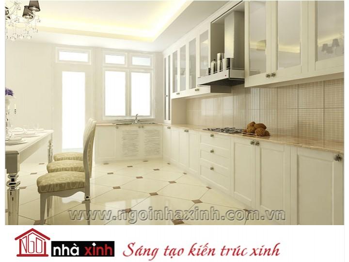 Mẫu nội thất  cao cấp phòng bếp hiện đại đẹp NNX-BHĐ11
