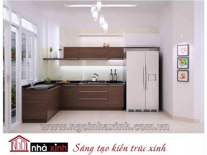 Mẫu nội thất  cao cấp phòng bếp hiện đại đẹp NNX-BHĐ12