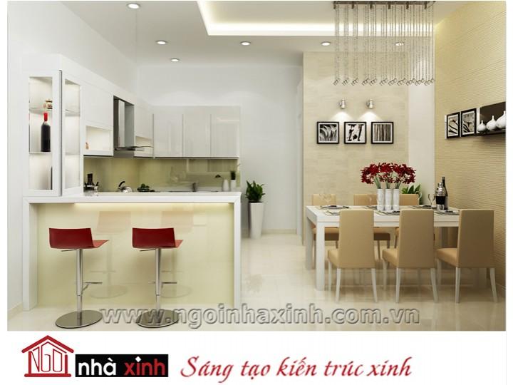 Mẫu nội thất  cao cấp phòng bếp hiện đại đẹp NNX-BHĐ13