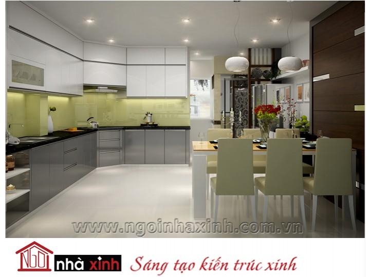 Mẫu nội thất  cao cấp phòng bếp hiện đại đẹp NNX-BHĐ14