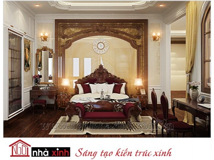 Mẫu nội thất cao cấp phòng ngủ cổ điển đẹp NNX-PNCĐ-001
