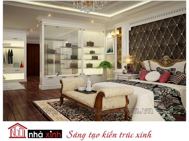 Mẫu nội thất cao cấp phòng ngủ cổ điển đẹp NNX-PNCĐ-003