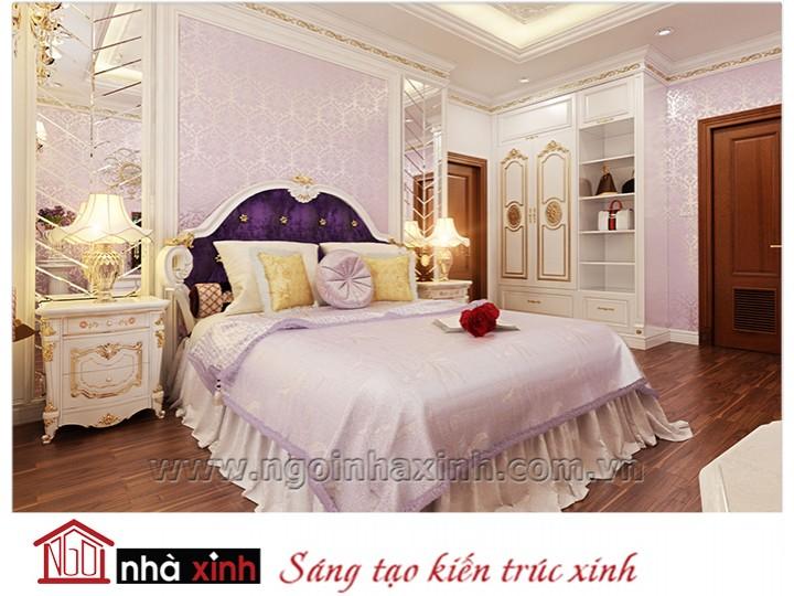 Mẫu nội thất cao cấp phòng ngủ cổ điển đẹp NNX-PNCĐ-006