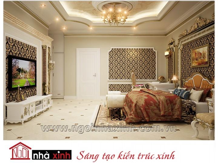 Mẫu nội thất cao cấp phòng ngủ cổ điển đẹp NNX-PNCĐ-007