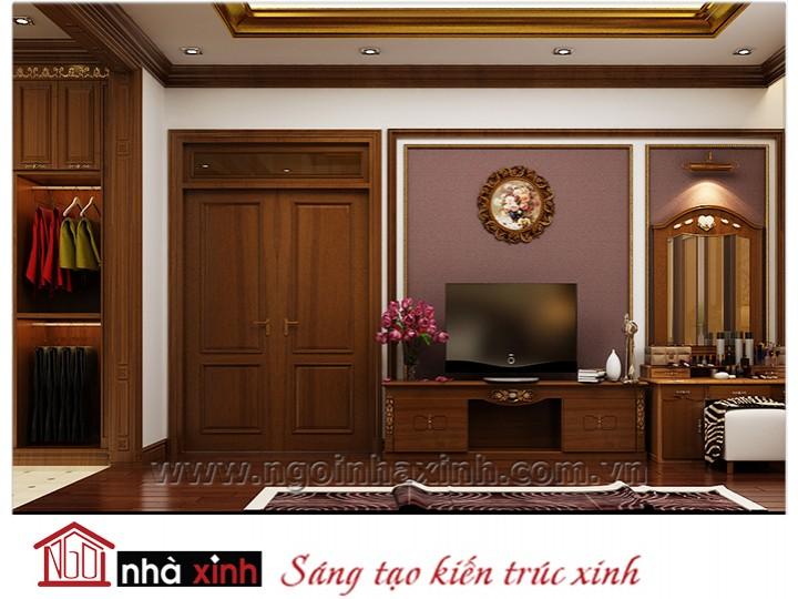 Mẫu nội thất cao cấp phòng ngủ cổ điển đẹp NNX-PNCĐ-009