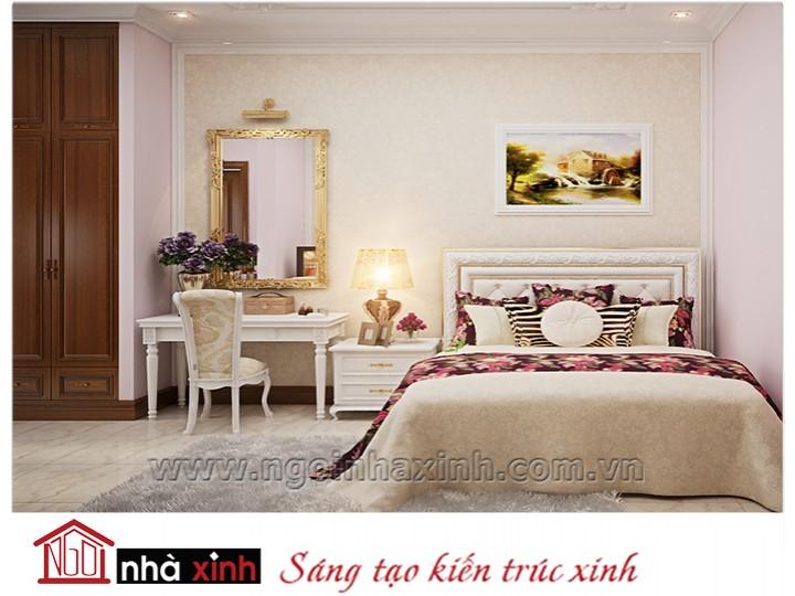 Mẫu nội thất cao cấp phòng ngủ cổ điển đẹp NNX-PNCĐ-011
