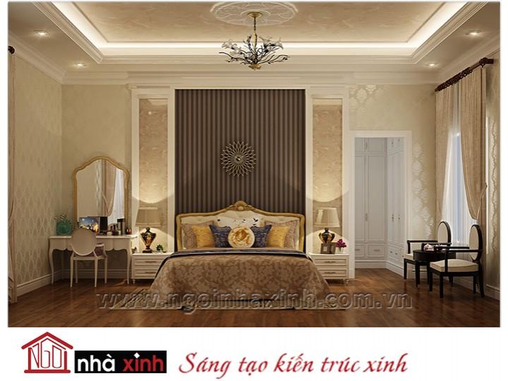 Mẫu nội thất cao cấp phòng ngủ cổ điển đẹp NNX-PNCĐ-012