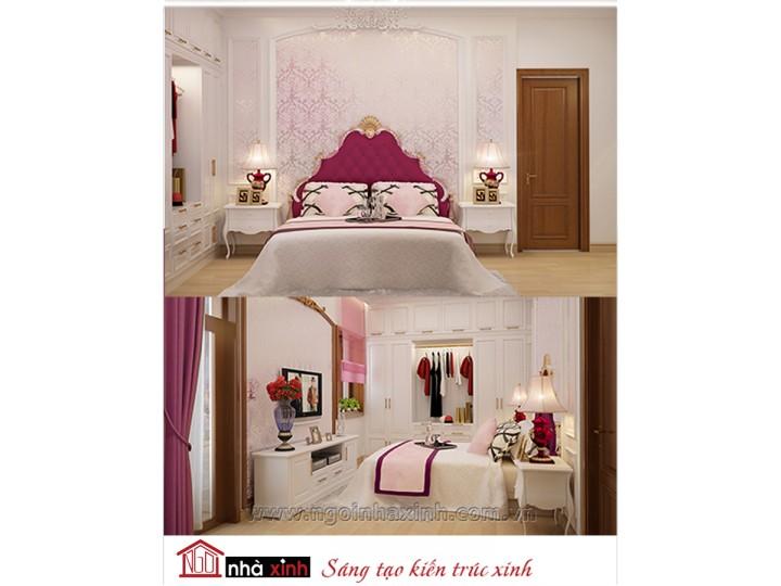 Mẫu nội thất cao cấp phòng ngủ cổ điển đẹp NNX-PNCĐ-014