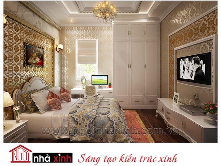 Mẫu nội thất cao cấp phòng ngủ cổ điển đẹp NNX-PNCĐ-015