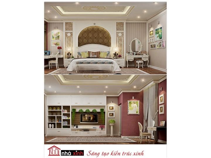 Mẫu nội thất cao cấp phòng ngủ cổ điển đẹp NNX-PNCĐ-018