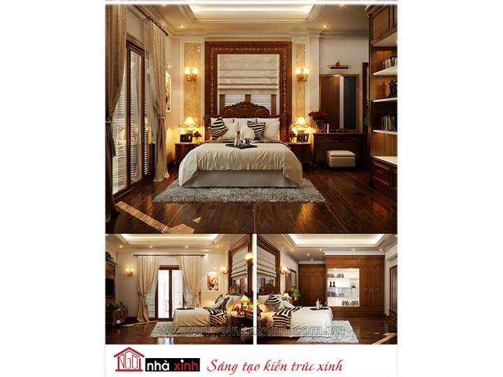 Mẫu nội thất cao cấp phòng ngủ cổ điển đẹp NNX-PNCĐ-020