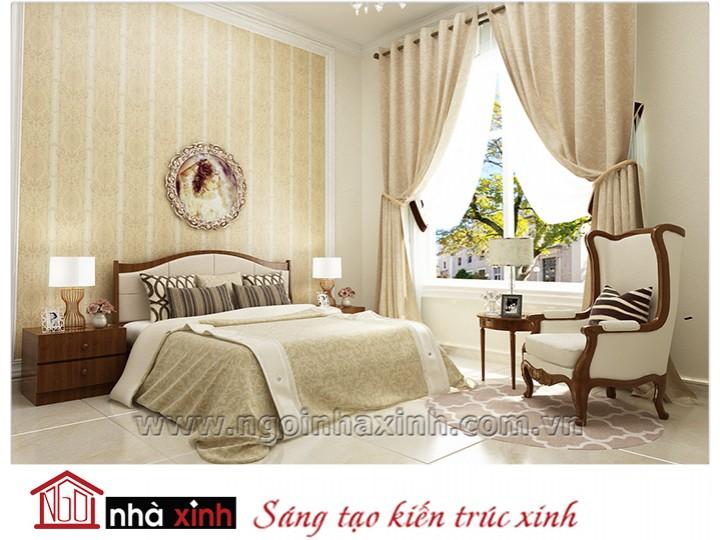 Mẫu nội thất cao cấp phòng ngủ cổ điển đẹp NNX-PNCĐ-022