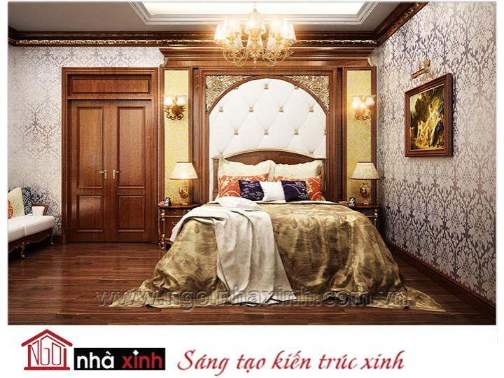 Mẫu nội thất cao cấp phòng ngủ cổ điển đẹp NNX-PNCĐ-023