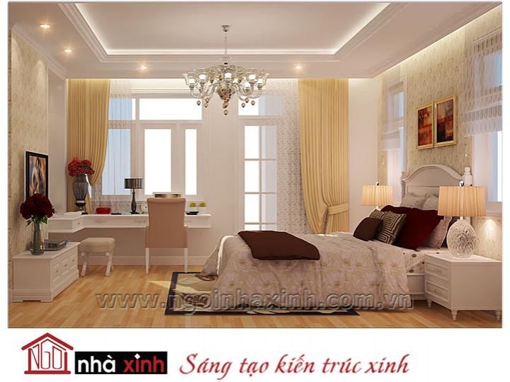 Mẫu nội thất cao cấp phòng ngủ cổ điển đẹp NNX-PNCĐ-024