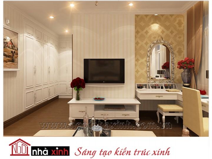 Mẫu nội thất cao cấp phòng ngủ cổ điển đẹp NNX-PNCĐ-025