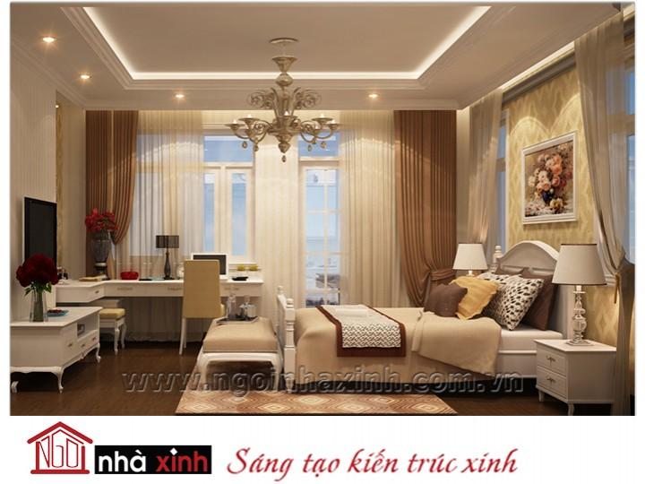 Mẫu nội thất cao cấp phòng ngủ cổ điển đẹp NNX-PNCĐ-026