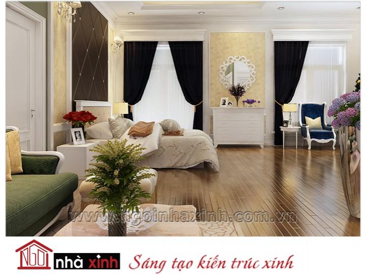 Mẫu nội thất cao cấp phòng ngủ cổ điển đẹp NNX-PNCĐ-027