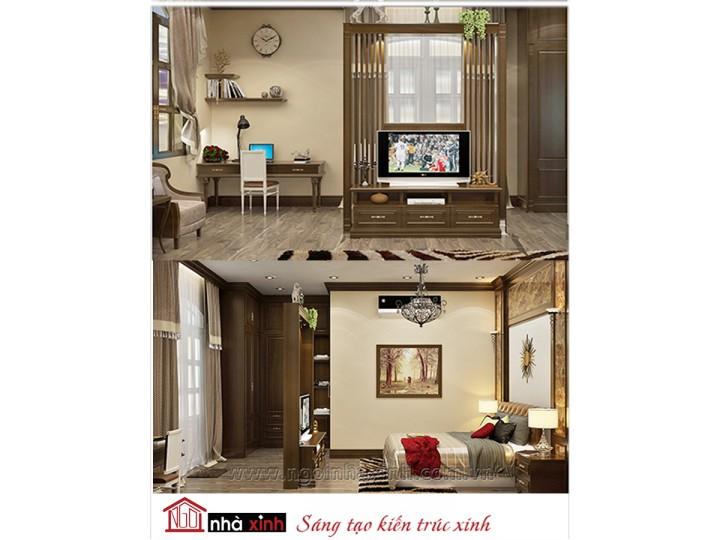 Mẫu nội thất cao cấp phòng ngủ cổ điển đẹp NNX-PNCĐ-028