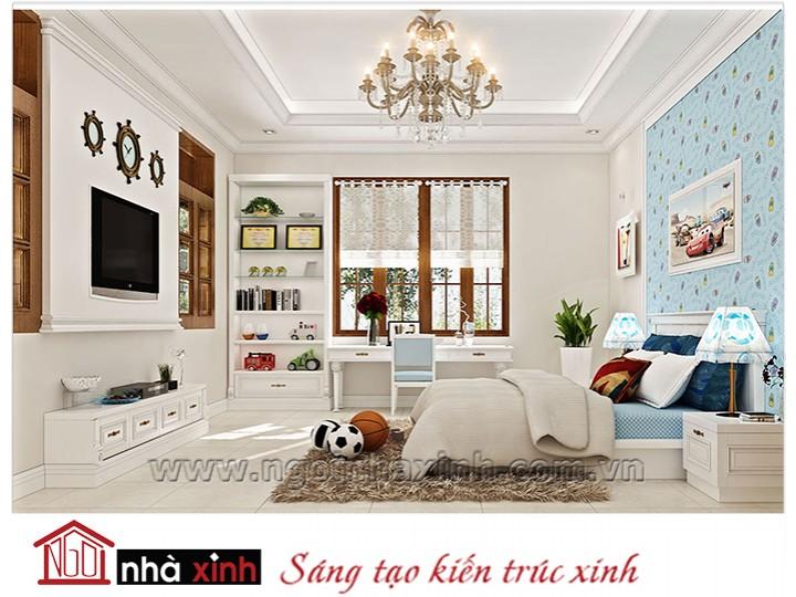 Mẫu nội thất cao cấp phòng ngủ cổ điển đẹp NNX-PNCĐ-031