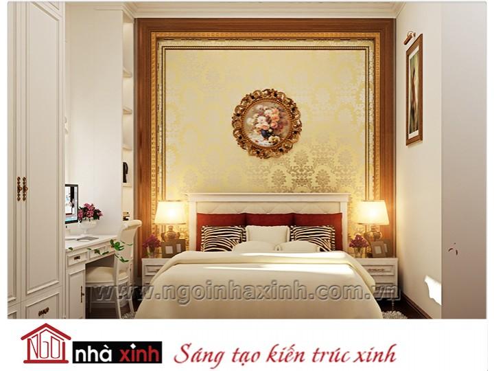 Mẫu nội thất cao cấp phòng ngủ cổ điển đẹp NNX-PNCĐ-032