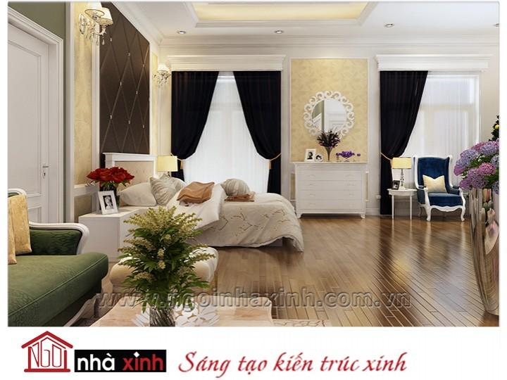 Mẫu nội thất cao cấp phòng ngủ cổ điển đẹp NNX-PNCĐ-037