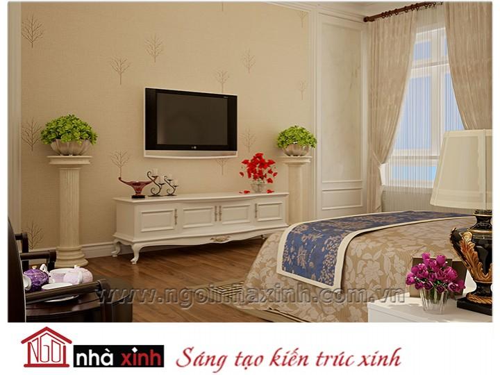 Mẫu nội thất cao cấp phòng ngủ cổ điển đẹp NNX-PNCĐ-044