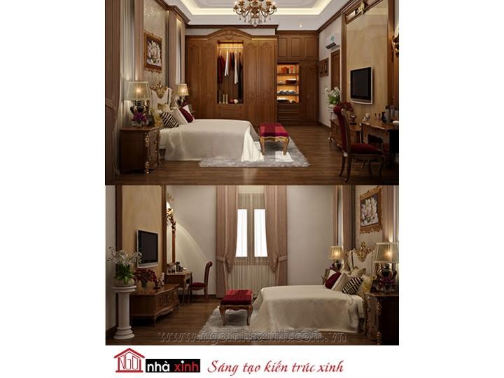Mẫu nội thất cao cấp phòng ngủ cổ điển đẹp NNX-PNCĐ-045