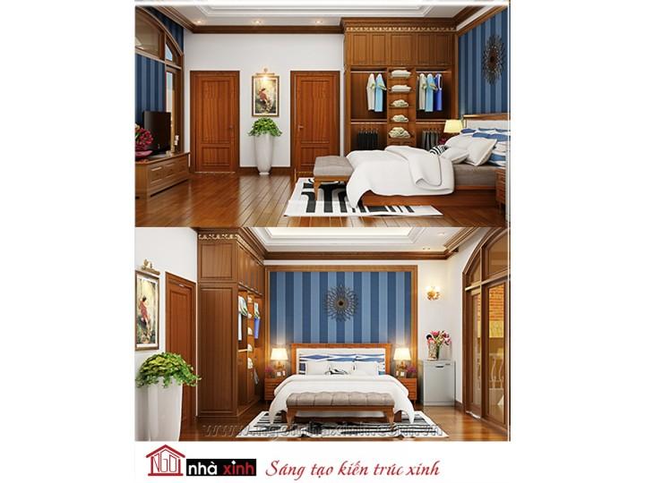 Mẫu nội thất cao cấp phòng ngủ cổ điển đẹp NNX-PNCĐ-047