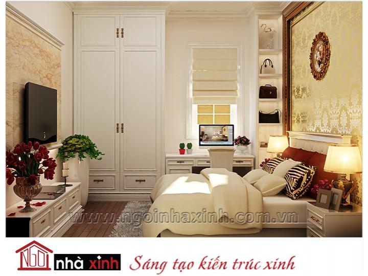 Mẫu nội thất cao cấp phòng ngủ cổ điển đẹp NNX-PNCĐ-050