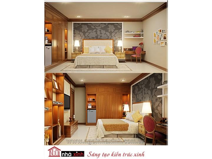 Mẫu nội thất cao cấp phòng ngủ cổ điển đẹp NNX-PNCĐ-051