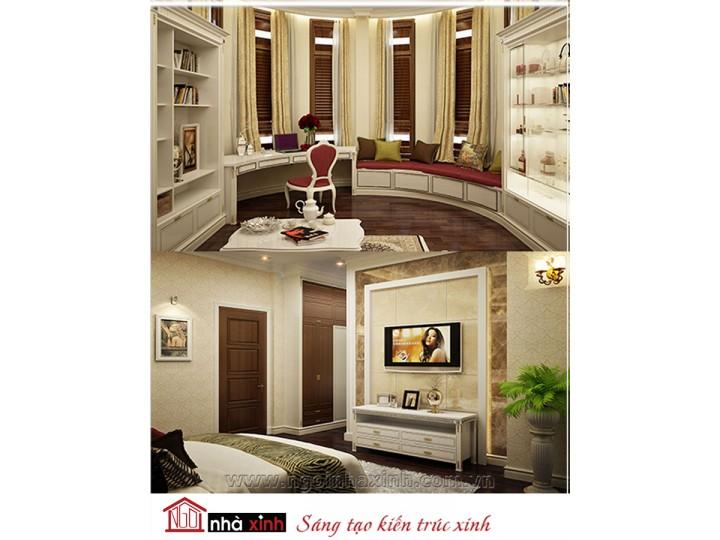 Mẫu nội thất cao cấp phòng ngủ cổ điển đẹp NNX-PNCĐ-052