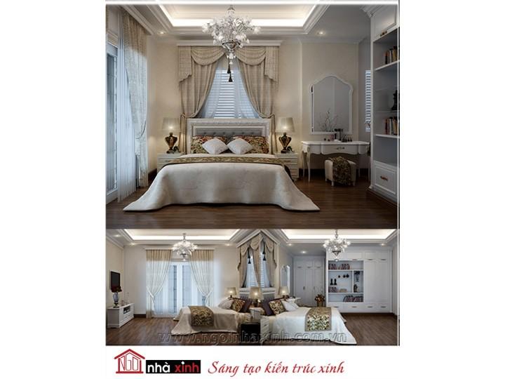 Mẫu nội thất cao cấp phòng ngủ cổ điển đẹp NNX-PNCĐ-054