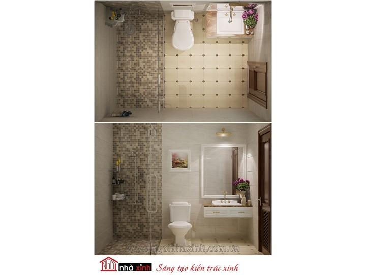 Mẫu nội thất cao cấp phòng tắm - vệ sinh đẹp NNX-PTVS-09